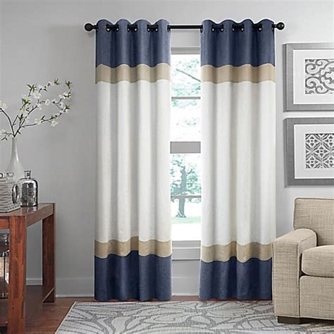 96 grommet curtains buy brooklyn color block 96 inch grommet top window
