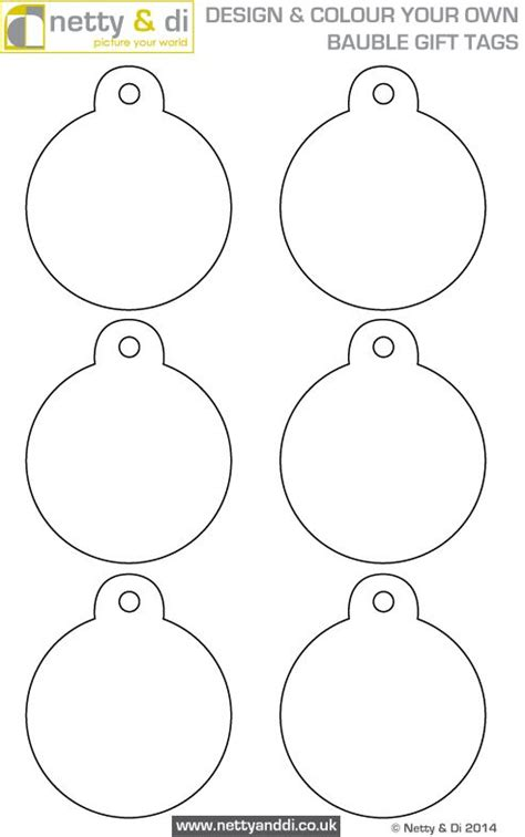 printable christmas tree baubles design your own bauble gift tags with this free template
