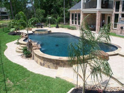 Sloped Backyard Pool by Triyae Above Ground Pool On A Sloped Backyard