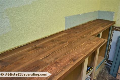 diy wood countertop finish my diy wood countertop is finished well almost diy