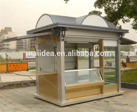 Design Booth Outdoor   nice looking with durable structure outdoor food kiosk