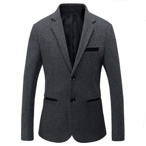 Blazer Casual Gray List sale 2016 new sping fashion brand gray blazer casual suit jacket splice slim fit