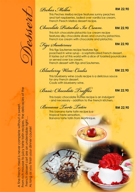 design dessert menu french menu design dessert by kim believe on deviantart