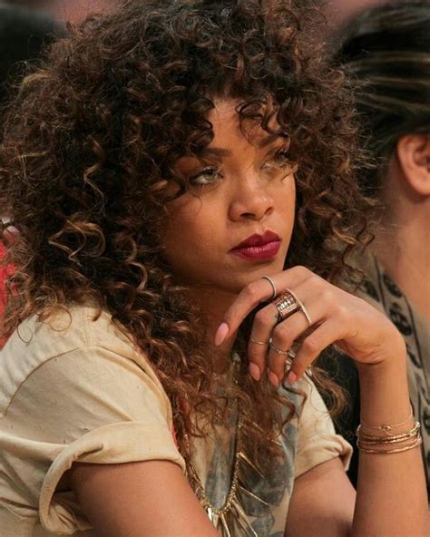 Rihanna Curly Hairstyles by Rihanna Curly Hair Hair Styles Highlights