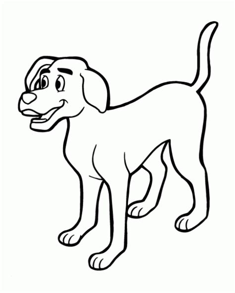 imagenes para colorear un perro un dibujo de un perro gato imagui