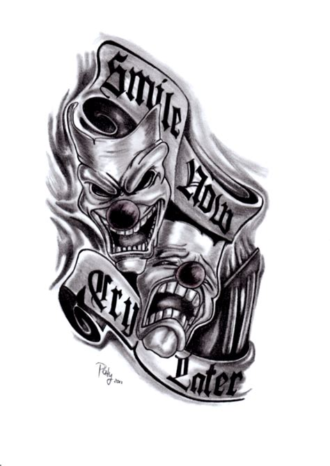 smile now cry later tattoo designs smile now cry later by paty47 on deviantart