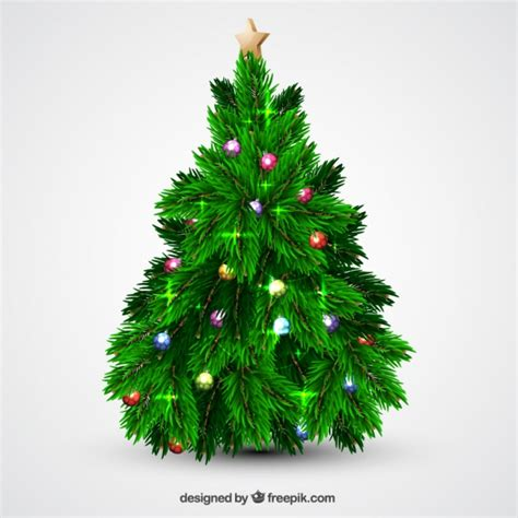 tree balls tree with balls and lights vector free