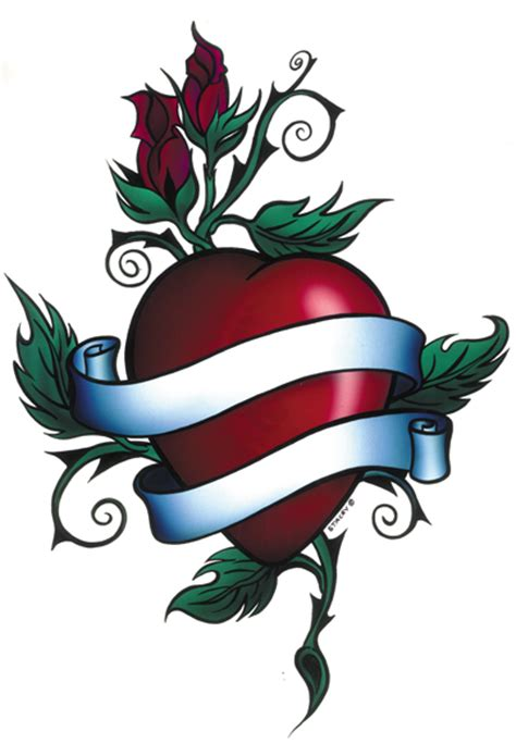 heart and scroll tattoo designs and ribbon designs cliparts co