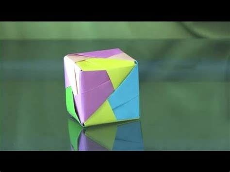 Can You Make Origami With Regular Paper - how to make a colorful origami cube origami