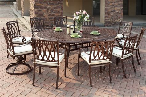 aluminum outdoor patio furniture cast aluminum patio furniture home design by fuller