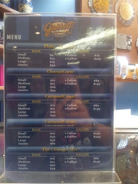 menu price list  garrett popcorn malaysia food