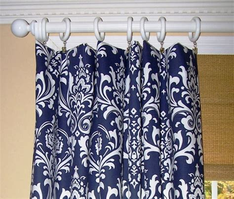 Navy Blue Patterned Curtains Navy Blue Shower Curtains In 10 Awesome Patterned Designs Interior Design Inspirations