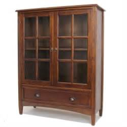 Barrister Bookcase Hardware 1 Shelf Barrister Bookcase With Glass Door In Brown 9122