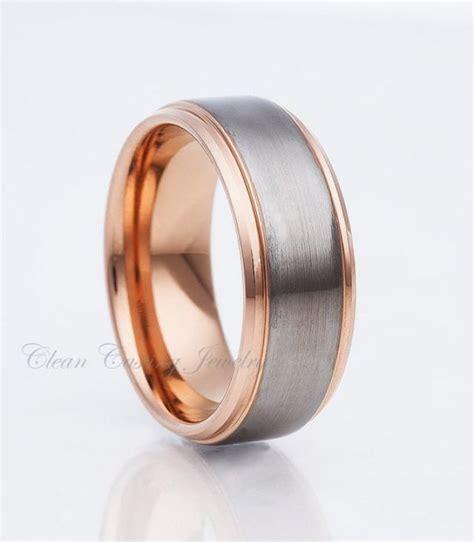 Handcrafted Wedding Bands - gold tungsten wedding bands s tungsten band satin