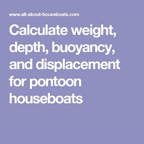 pontoon weight calculator 25 best ideas about pontoon houseboat on pinterest
