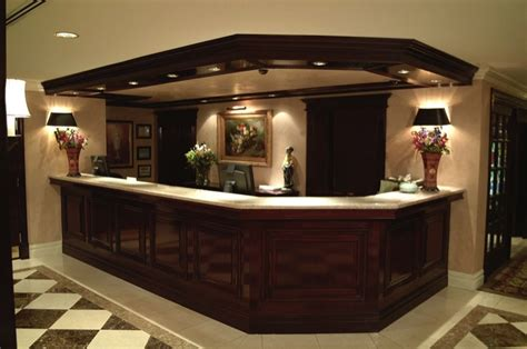 built in reception desk hotel lobby millwork gallery