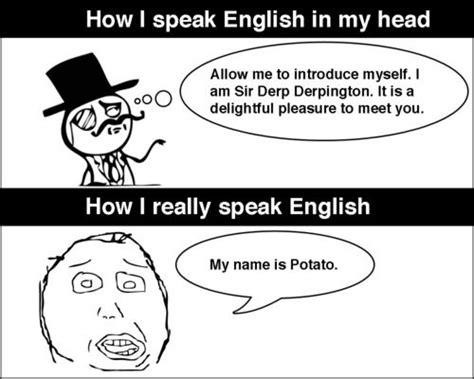 English Language Meme - meme faces speaking english lol image too funny