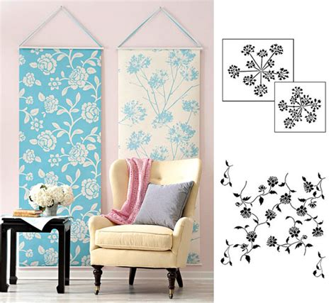 wallpaper or stencils unique diy home decor projects