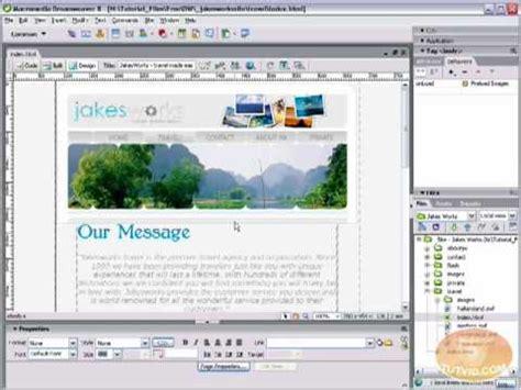 tutorial wordpress dreamweaver flash text dreamweaver tutorial tembelyarasa
