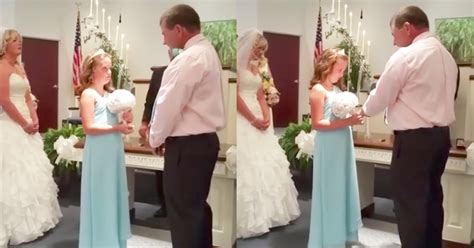 groom surprises stepdaughter with heartfelt vows during wedding ceremony