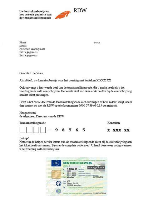 kentekenbewijs deel 3 of overschrijvingsbewijs kwijt