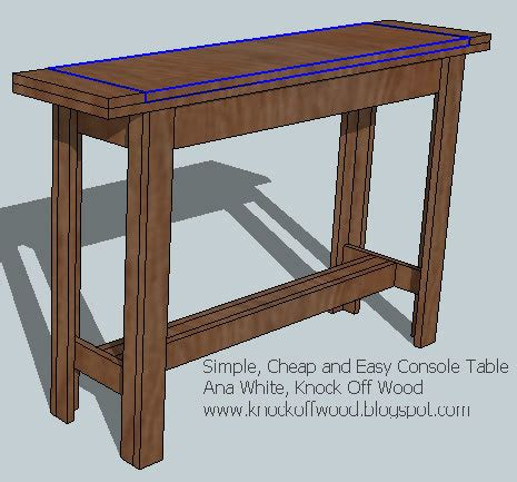 ana white simple cheap  easy console table diy