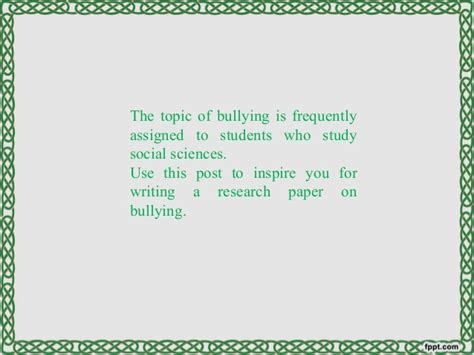 good thesis about bullying bullying essays papers