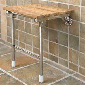 teak folding shower seat with legs bathroom