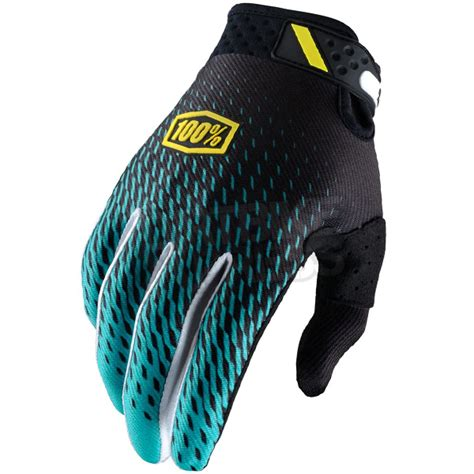 100 motocross gloves 100 ridefit motocross gloves supra teal dirtbikexpress