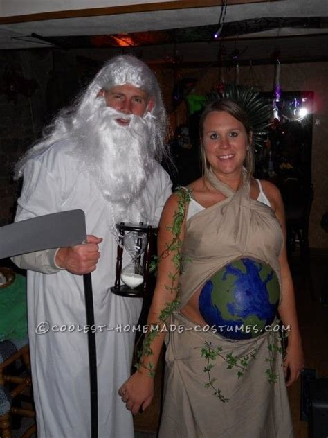 original costume idea   pregnant couple mother earth