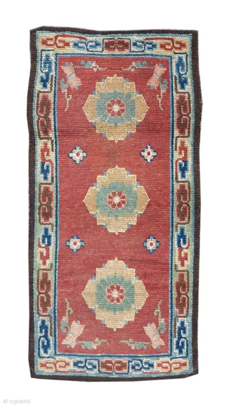 pap rugs tibetan rug with three lotus blossoms on a ground size 2 6 quot x 4 6 quot inv 17862 visit our