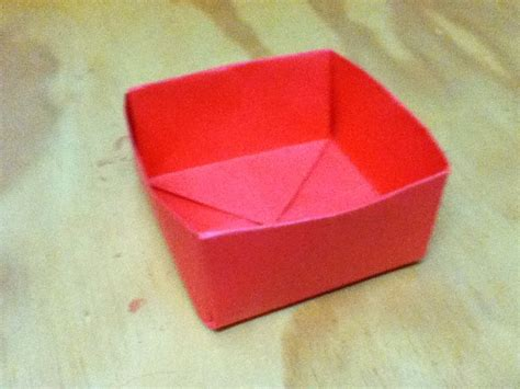 A Paper Box - how to make an origami box paper box step by step