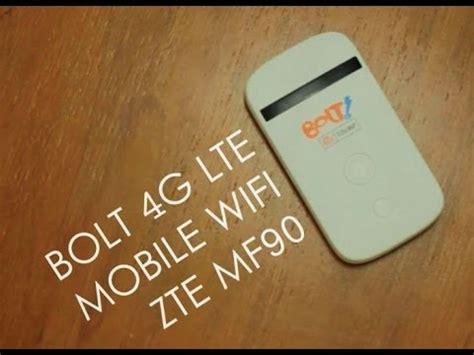 Bolt Mobil E Wifi Zte Mf90 review bolt 4g lte mobile wifi zte mf90