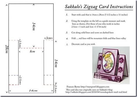 cards template hug sakkalo s zigzag card cards