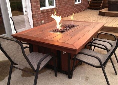 Outside Table With Pit 25 Best Ideas About Table On Outdoor