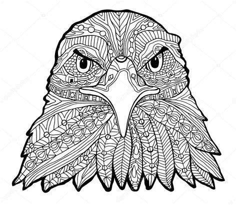 eagle mandala coloring pages el 225 guila blanco y negro impresi 243 n con estados 233 tnicos