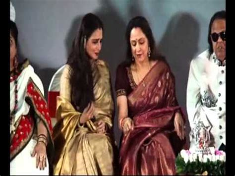 rekha and hema malini rekha and hema malini comes together youtube