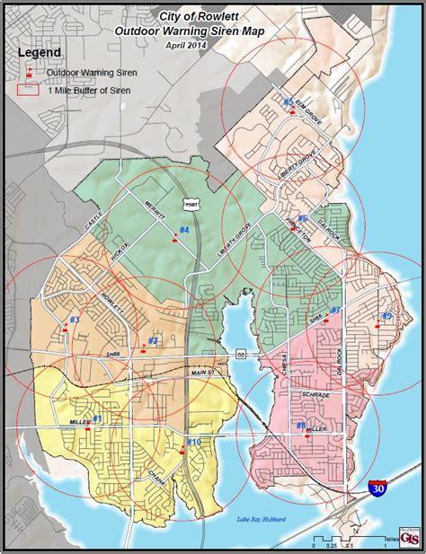 map of rowlett texas rowlett tx official website outdoor warning sirens
