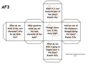 Printable Guided Reading Dice   sats resources page 1
