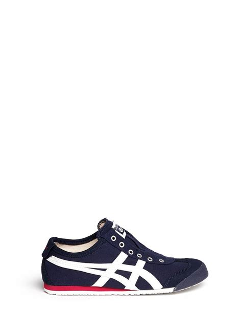 onitsuka tiger mexico 66 laceless canvas sneakers in