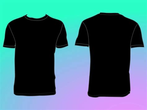t shirt template front and back blank t shirt front and back template clipart best