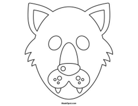 printable wolf mask black and white printable wolf mask