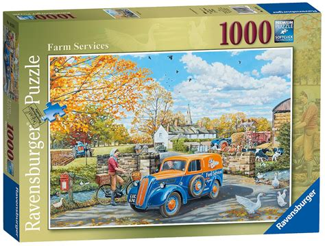 1000 Jigsaw Puzzles Jigsaw puzzle farm services ravensburger 19578 1000 pieces jigsaw puzzles countryside jigsaw puzzle