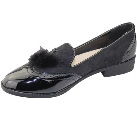 oxford loafer womens slip on tasel patent suede flat oxford