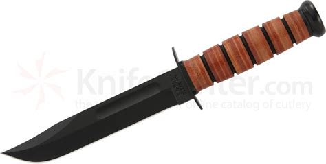 Japanese Kitchen Knives Review Ka Bar 1217 Full Size Usmc Fighting Knife 7 Quot Plain Blade