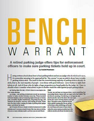bench warent bench warrant parking