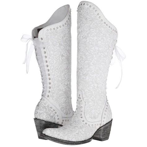 White Wedding Boots by Gringo S Boots White 608 Liked On
