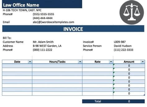 tax invoice template microsoft word free business template