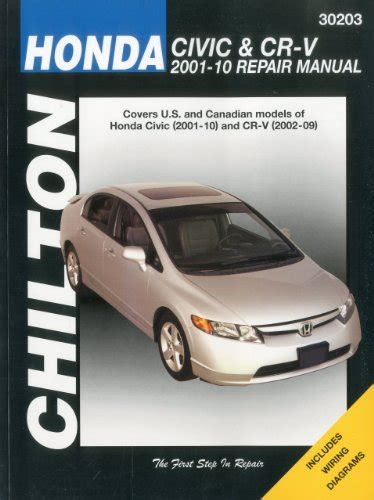 free auto repair manuals 2004 honda cr v user handbook top free books online honda civic 2001 2010 cr v 2002 2009 chilton s total car care repair