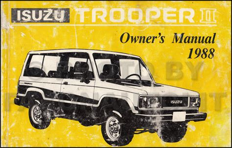 1996 isuzu trooper repair shop manual original 1988 isuzu trooper ii repair shop manual original